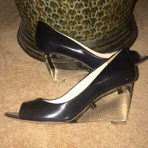 Brand New Prada With Lucite Heels
